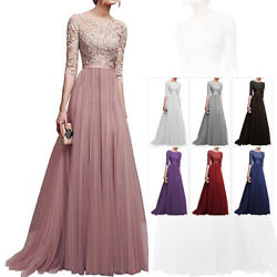 US Women Formal Lace Maxi Dresses Prom Gown Bridesmaid Toast Wedding Long Dress $28.96