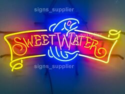 New Sweet Water Fish Neon Light Sign 24x12 Lamp Poster Real Glass Beer Bar