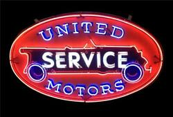 New United Service Motors Neon Light Sign 24x20 Lamp Poster Real Glass