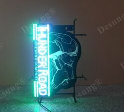 New Thunder Road Brewing Company Neon Light Sign 24x20 Lamp Poster Real Glass