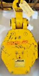 Miller High Lift Block 212l30,30 Ton,double Sheave,3/4 Wire Rope,lifting Eye 2