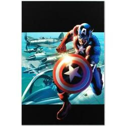 Marvel Limited Edition Captain America Man Out Of Time 3 Numbered Canvas