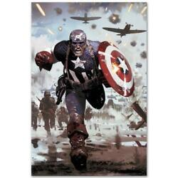 Marvel Comics Limited Edition Captain America 3 Numbered Canvas Art