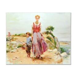 Pino Cliffside At The Sea Ap Artist Embellished Limited Edition Canvas Coa