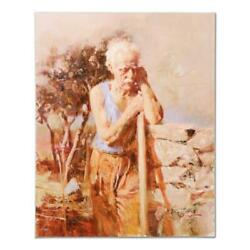 Pino A Day In The Field Ap Artist Embellished Limited Edition On Canvas Coa