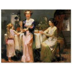Pino The Gathering Pp Artist Embellished Limited Edition On Canvas Coa
