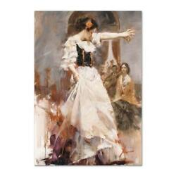 Pino Midnight Tango Artist Embellished Limited Edition On Canvas Coa