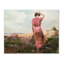 Pino Windy Day Ap Artist Embellished Limited Edition On Canvas Coa