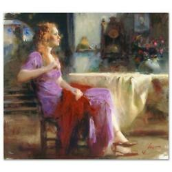 Pino Longing For Ap Artist Embellished Limited Edition On Canvas Coa