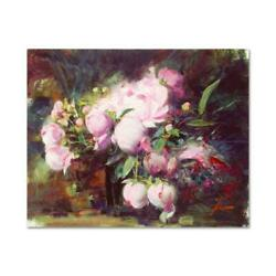 Pino Peonies Ap Artist Embellished Limited Edition On Canvas Coa