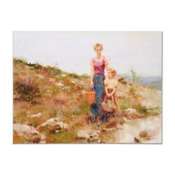Pino Close To Home Ap Artist Embellished Limited Edition On Canvas Coa