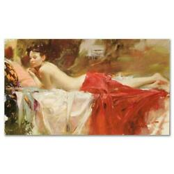 Pino Love Notes Ap Artist Embellished Limited Edition On Canvas Coa