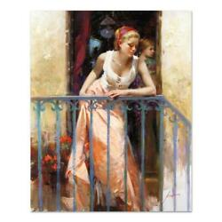 Pino At The Balcony Pp Artist Embellished Limited Edition On Canvas Coa