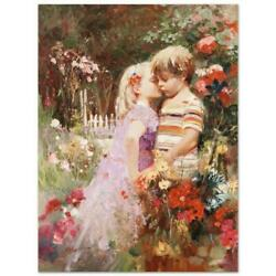 Pino The Kiss Revisited Ap Artist Embellished Limited Edition On Canvas Coa