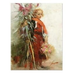 Pino Flower Child Ap Artist Embellished Limited Edition On Canvas Coa