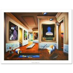 Ferjo Interior With Magritte Signed Limited Edition Giclee On Canvas