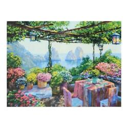 Howard Behrens Table For Two Capri Limited Edition On Canvas Coa
