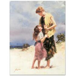 Pino Tenderness Ap Artist Embellished Limited Edition On Canvas Coa