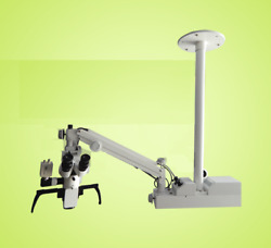3 Step Ceiling Mount Surgical Ent Microscope - For Ent Surgery - Silver Gray