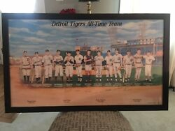 Detroit Tigers All-time Team 1991-1999 Autographed Framed Lithograph