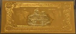 Antigua And Barbuda Gold And Silver Banknote 100 Dollars Happy Delivery 1