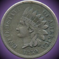 1859 United States Indian Head 1 Cent Coin
