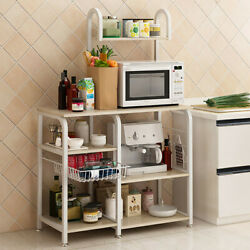 Microwave Oven Rack Kitchen Organizer Counter Cabinet Storage Metal Shelf Stand