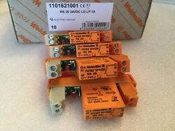 4 - Weidmuller Electromechanical Relays 24vdc 8a Spst-no. Us Authorized.. .new