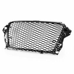 Piano Black Rs3 Style Front Mesh Grille With Parking Sensor For Audi A3 S3 8v