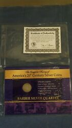 Complete History Of Americas 20th Century Silver Coins Barber Silver Quarter