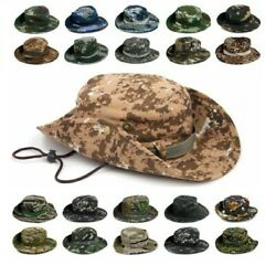 Military Style Boonie Mens Hat Army Camouflage Woodland Jungle Digital Sun Cap