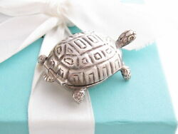 And Co Silver Turtle Tortoise Pill Box Holder