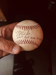 Mike Trout Signed/inscribed Mlb Holo/ Game Used 250th Hr Baseball/ Mvp Milestone