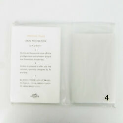 Auth Hermes Unused Bag Rain Protection Cover No.4 For Bolide 31 37 Clear 6800b