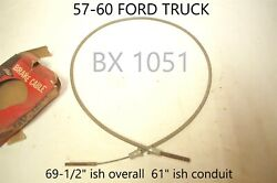 1957 1958 1959 1060 Ford Truck Lisle Bx 1051 Emergency Parking Brake Cable Nors
