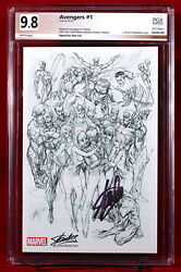 Avengers 1 Sdcc Rare Sketch Variant Pgx 9.8 Nm/mt Signed By Stan Lee + Cgc