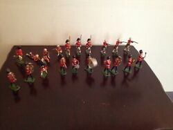 Vintage John Hill And Co Lead Toy Soldiers Figures In Kilts And Band Lot England
