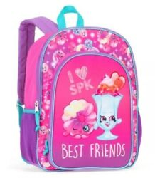 """Brand New Shopkins Backpack 16"""" Full Size Book Bag Kids Tote For School $15.44"""