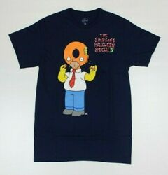 The Simpsons Homer Halloween Special Official Navy T-Shirt New! (5D2 $14.99