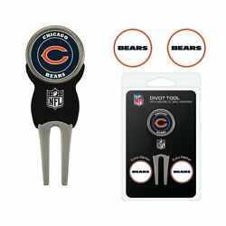 Nfl Chicago Bears Golf Divot Repair Tool And 3 Ball Markers Enamel Team