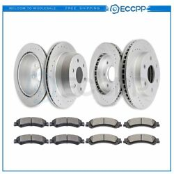 Ceramic Brake Pads And Rotors Front Rear For Chevy Silverado 1500 Lt Ls