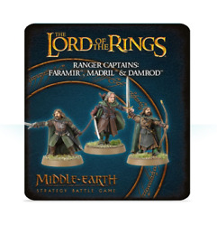Middle Earth Strategy Game Ranger Captains Faramir Madril And Damrod Gw Metal Nib