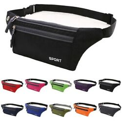 Waterproof Running Belt Fanny Pack Waist Pouch Outdoor Camping Hiking Zip Bag $5.95