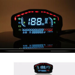 Motorcycle Led Lcd Digital Speed Odometer Backlight Display For 24 Cylinders