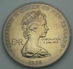 1978 New Zealand Silver Proof One Dollar Bu Unc Color Toned Coin 2