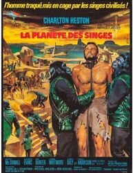 Planet Of The Apes French Grande Movie Poster 1968 - Heston Hollywood Posters