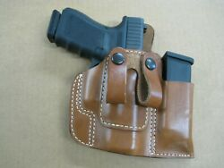 Usa Leather Belt Loop Iwb Combo Holster / Mag Pouch Ccw For..choose Gun - 5