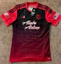 Signed Whole Team 2015 Mls Champions Authentic Portland Timbers Secondary Red