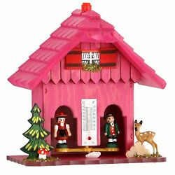 German Black Forest Weather House Pink Tu 73 Pink New