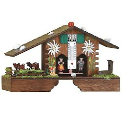 German Black Forest Weather House With Turning Cows Tu 900 E New